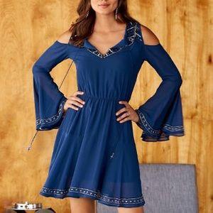 Boston Proper | Blue Boho Embroidery Dress - M5